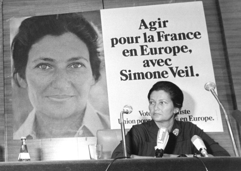 Simone Veil's campaign for the European elections